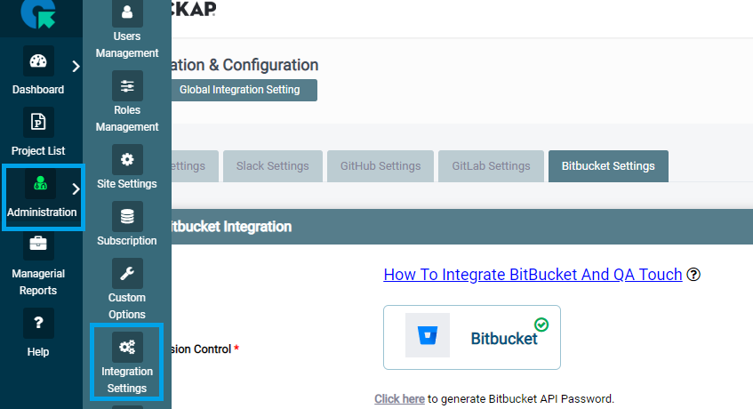 How To Integrate Bitbucket with QA touch? - QA Touch