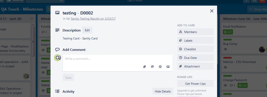 Issues in Trello - Step 3