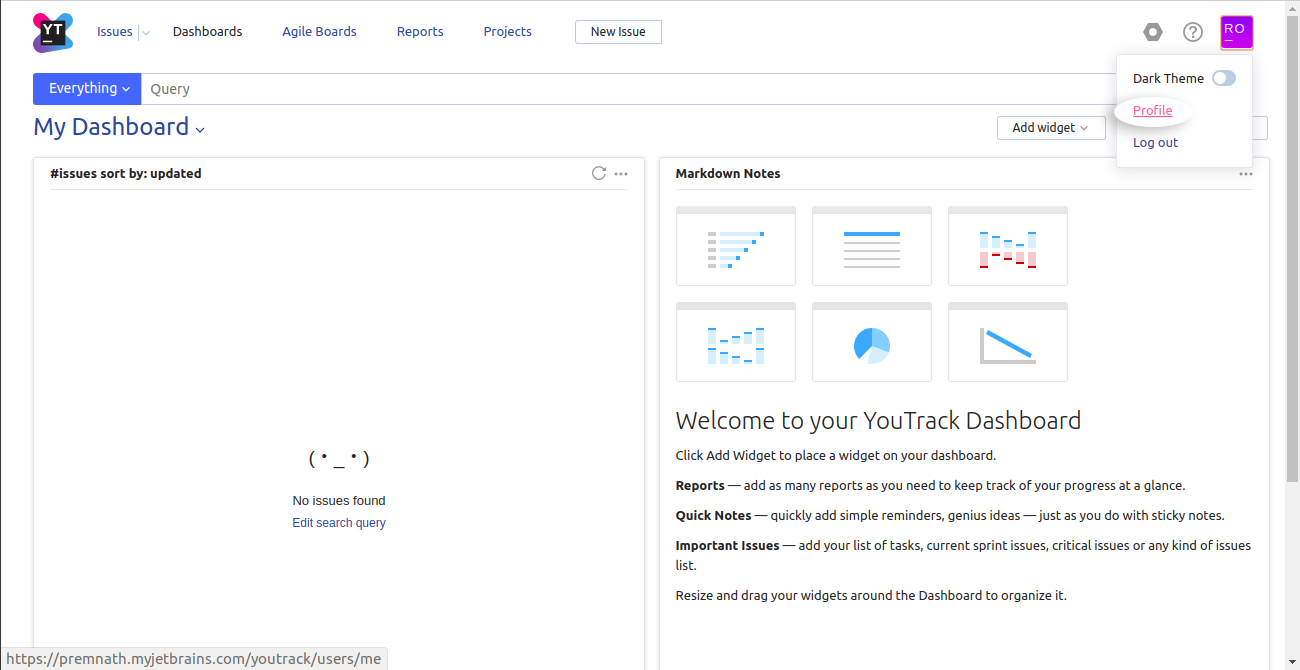 YouTrack Profile