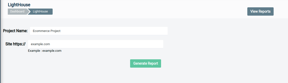 Generating Report Dialogue Box in QA Touch